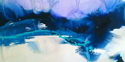 Purple, Blue & White - Series 2 - 2' x 3'