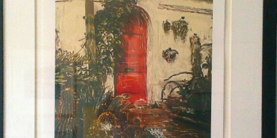 Red door framed 41