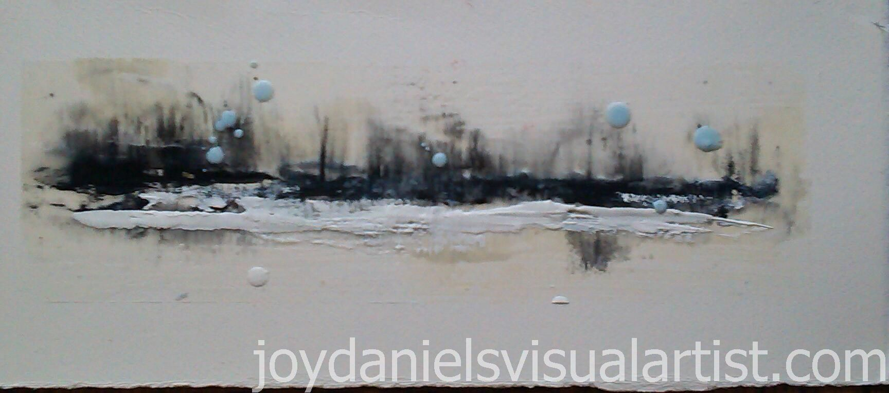 """Cityscape - Series 2 - 17"""" x 7 1/4"""" (On Water Colour Paper)"""