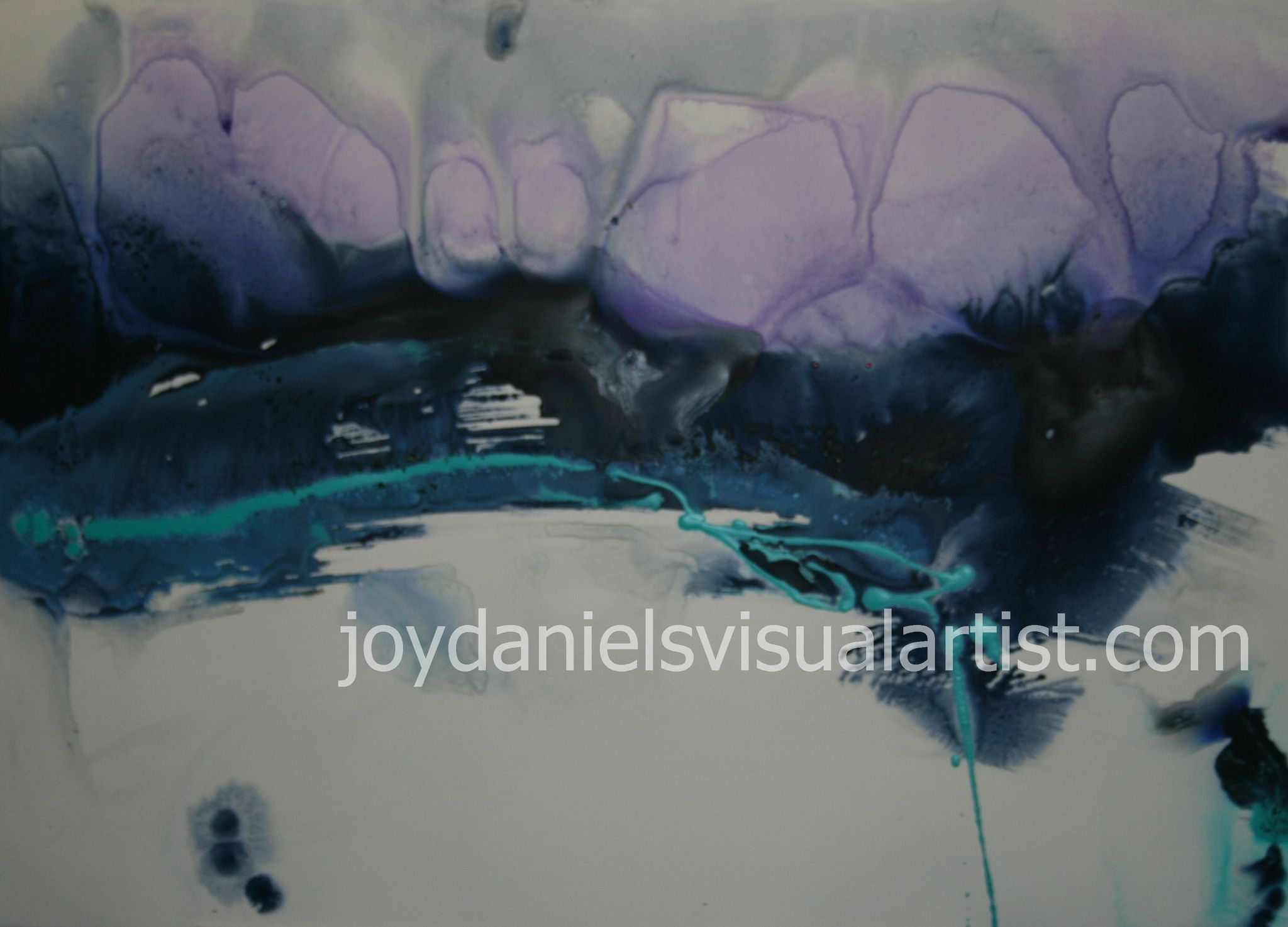 Purple, Blue & White - Series 1 - 2' x 3'